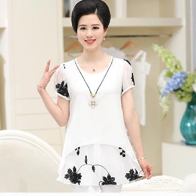 Qoo10 Tv Mother Dress Summer 40 50 New Short Sleeve T 30 Year Old