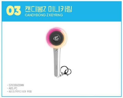 TWICE POPUP STORE Twaiis SHOP SEOUL GOODS CANDYBONG Z MINI KEYRING KEY RING  NEW