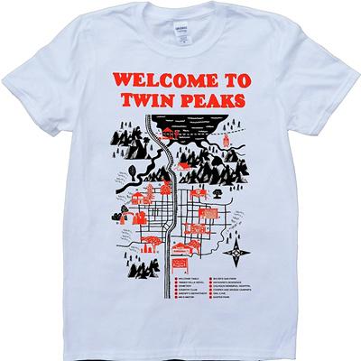 a19725b6e8bf Qoo10 - Twin Peaks Map Men s Fashion T-shirt : Men's Apparel