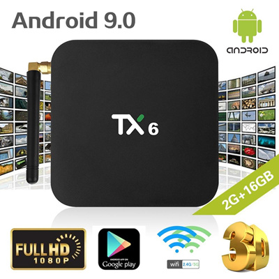 TX6 Android 9 0 Smart TV Box Allwinner H6 Quad Core 2 4G+5G Dual WiFi  Bluetooth 4 1 Set Top Box 4K
