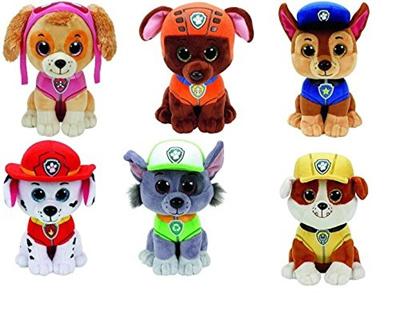Qoo10 - (TY-plushes) TY Paw Patrol Beanie Boos! Plush Figures 6 Pc Set -  Skye 05d216e2c945