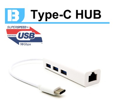 Qoo10 - TYPE-C Ethernet Adapter + 3 USB 2.0 HUB to Use Wired ...