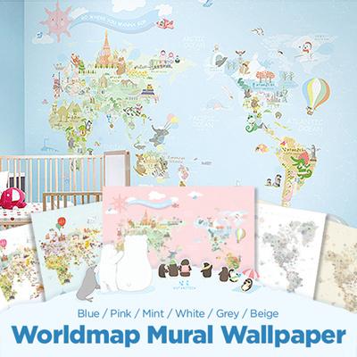Qoo10 worldmap mural wallp furniture deco u2worldmap mural wallpaperself interiorfurniture diy decorationkorea gumiabroncs Images