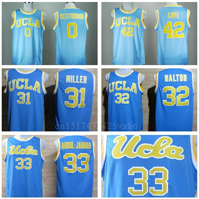 newest 3eeef 08172 UCLA Bruins College Basketball Jerseys 42 Kevin Love 33 Kareem Abdul Jabbar  0 Russell Westbrook 31 R