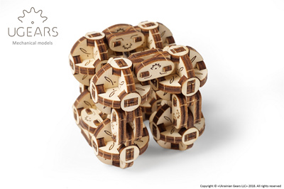 [Ugears]Ugears FLEXI-CUBUS Mechanical Self-Moving 3D Puzzle Kit Model for  Birthday Gift Present Toys
