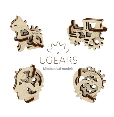 Ugears★SG Seller★ UGEARS Model Tribiki 3D wooden puzzle ★ Ugears Mechanical  3D Puzzle Kit for Birthday Gift Present Party Top 10 Most Wanted Toy ★