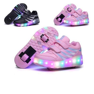 Qoo10 - Ukuran 27-43    Sepatu Anak-Anak LED Menyala Sepatu Sepatu ... 2f67284f11