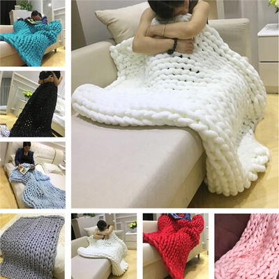 Qoo10 Ultra Thick Yarn Blanket Air Conditioner Quilt Sofa Blanket