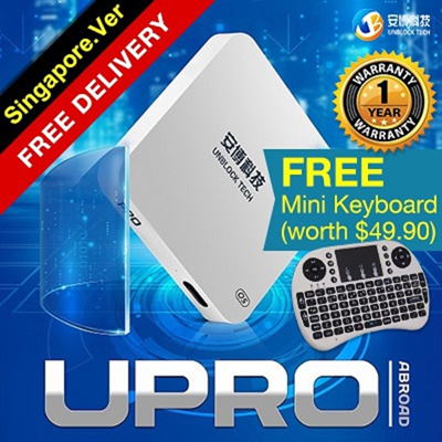 UNBLOCK TECHReady Stock SG Version UNBLOCK Tech Gen 6 PRO 2 IPTV free Live  TV Android TV box Gen 5 UPro ubox 4