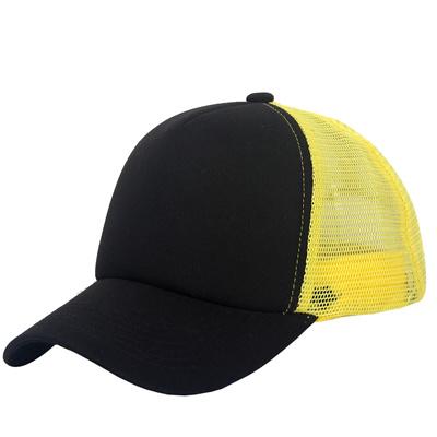 a38cc99e574 Unisex Snapback Baseball Cap Trucker Mesh Blank Curved Visor Hat Plain  Color New Black Yellow
