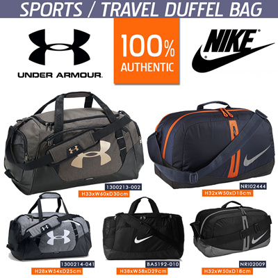 946b3dd69c UNDER ARMOUR NIKE DUFFEL BAG FOR SPORTS TEAM GYM TRAVEL FASHION MEN WOMEN  RECREATION TOURS