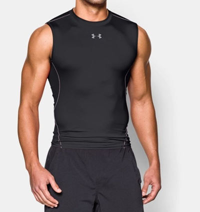 2a1fb2a11 Under Armour//Men s UA HeatGear Armour Sleeveless Compression Shirt