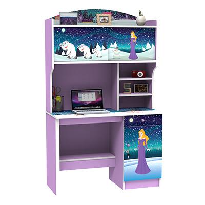 Uni Furnitureuni Meja Belajar Dan Rak Buku Anak Ungu Sd 5603 Free Delivery Dan Instalasi Jabodetabek