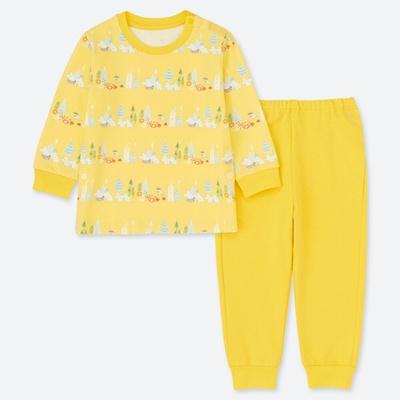 e5b2bbd31bc Qoo10 - Uniqlo Moomin Pajamas (Long Sleeve) for Kids - 414776   Baby ...