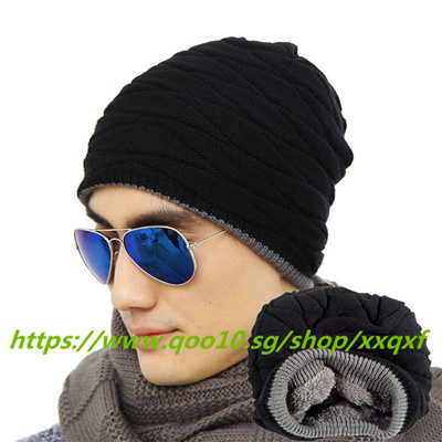 31b43a776d4 Unisex Crochet Knit Plicate Baggy Beanie Wool Men Women Hat Skull Winter  Warm Chic Cap Hot