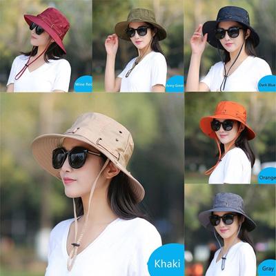 e54089695dd3a Qoo10 - Unisex Fashion Summer Foldable Anti-UV Wide Brim Bucket Hat Sunhat  Cap   Fashion Accessories