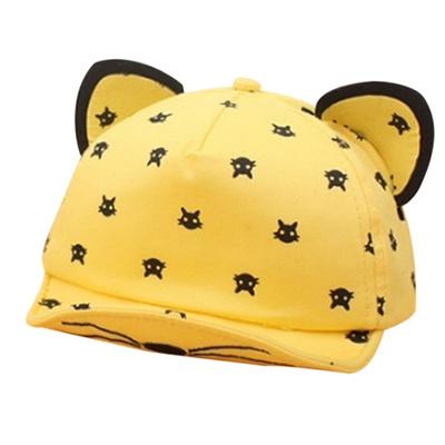 b4637afc279 Unisex Girls Boys Outdoor Cartoon Cat Ear Baseball Cap Children Sun Hat Gift
