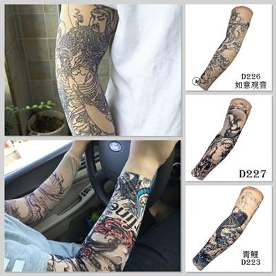 7cfa2123fa Unisex Hicool UV protection Sport cycling/ Tattoo Arm sleeve / temporary  fake Tattoo sticker