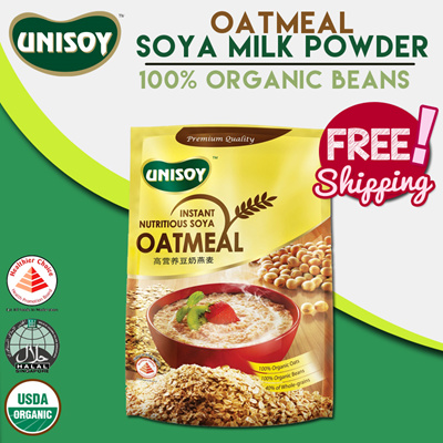 UNISOY[Single Pack] *ORGANIC NON-GMO SOYA OATMEAL!* Made in Singapore!  Instant Nutritious Soya Oatmeal