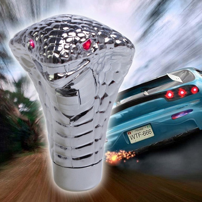 Universal LED Red Eyes Snake Gear Shift Knob Lever Stick Lighted Gears  Rally Racing Shifter for Manu