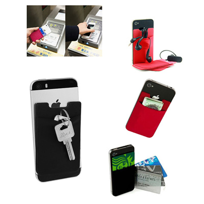 Cell Phone Card Holder >> Qoo10 Universal Phone Card Holder Elastic Cell Phone Wallet Case