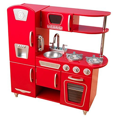 Qoo10 Unknown Kidkraft Vintage Kitchen Play Kitchen Set Red
