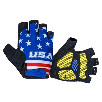 USA Cycling Gloves Half Finger Shockproof Gel Pad Bicycle Gloves Breathable Mountain MTB Bike Gloves