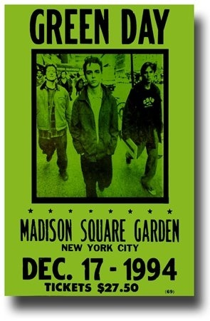 Qoo10 - [USA] Green Day Concert Poster, Madison Square Garden, New ...
