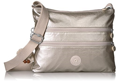 e485da711a999 Qoo10 -  USA  Kipling Alvar Metallic Crossbody Bag