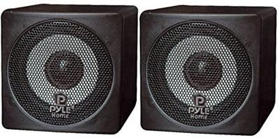 Black Pyle Home PCB3BK 3-Inch 100-Watt Mini Cube Bookshelf Speakers Pair