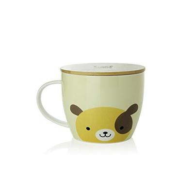 6a1e523f1cc [USA] UPSTYLE Cute Coffee Mug Cartoon Ceramic Soup Bowl Animal Pattern Tea  Cup Travel Mug with Bambo