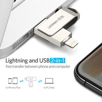 online store 80798 3ddfc USB Flash Drive 32 GB For iPhone X 8 7 6s 64 GB OTG USB Pendrive For  Lightning iOS USB Flash Memory