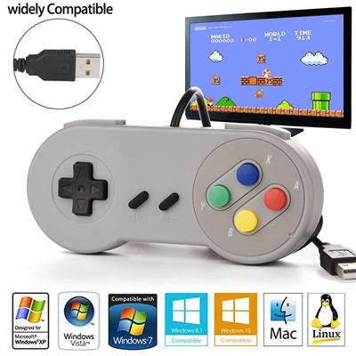 USB Game Controller Gaming Joystick Gamepad Controller for Nintendo SNES  Game pad for Windows PC MAC