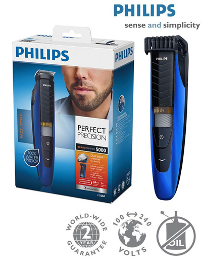 qoo10 philips beard trimmer bt5262 with precision of 0 4mm dual sided trimme bath body. Black Bedroom Furniture Sets. Home Design Ideas