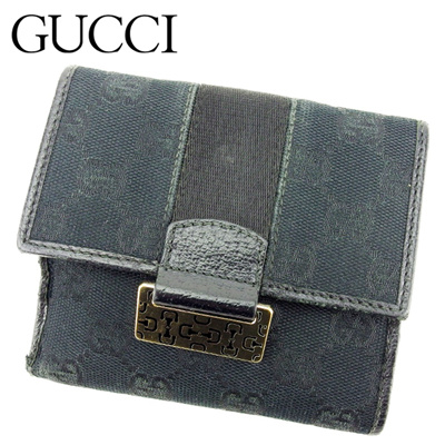6220c20ee75 Qoo10 -  Used  Gucci GUCCI W Hoc Wallet Folded Women s Men s Wear Hose...    Bag   Wallet
