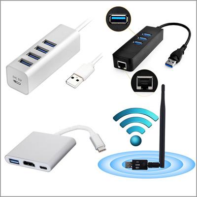 UUCat5Gbps Multi USB HUB 3 0 / USB 3 1 Type-C / HDMI / VGA / WIFI / iPhone  X 1000Mbps Gigabit Ethernet