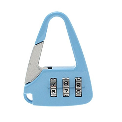 4c34244b1a00 (uxcell) uxcell Mini 3 Digits Combination Door Lock Security Gate Padlock  Blue-SYNCE008504