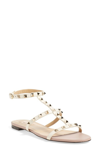 df832f9483c0 Qoo10 - Valentino Rockstud Ankle Strap Sandal (Women)   Shoes