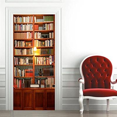 Qoo10 Vanbest Vanbest Bookcase Door Wall Stickers Wooden Doors