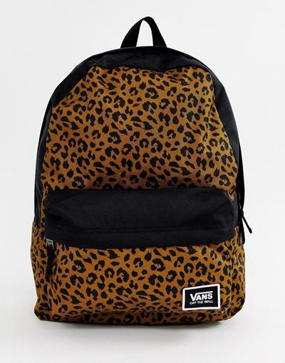b9cb5f9c116 Qoo10 - 반스 Vans leopard print realm classic backpack   Bag   Wallet