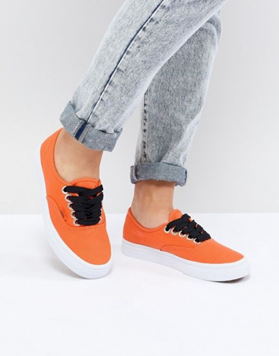 Design Assembly Authentic Trainers With Bold Laces - Orange Vans IeF17iuD2