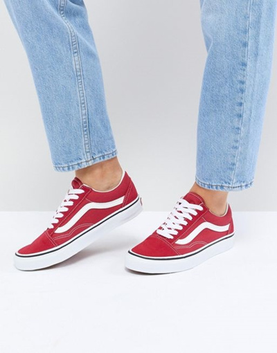 Qoo10 - Vans Old Skool Sneakers In Red   Shoes 548564cc6