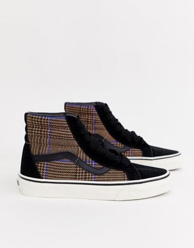 558224e1c482 Qoo10 - Vans SK8-Hi check sneakers   Shoes