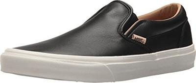 (Vans) Vans Classic Slip On Men s Lux Leather Black Porcini Fashion Shoes 7fd6811c2