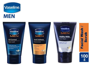 ☆Vaseline Men Facial Wash Oil Control / Anti Dullness / Healthy White☆Local SG