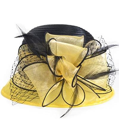 4acde9876e1 Qoo10 - VECRY Kentucky Derby Dress Church Cloche Hat Sweet Cute Floral  Bucket ...   Fashion Accessor.