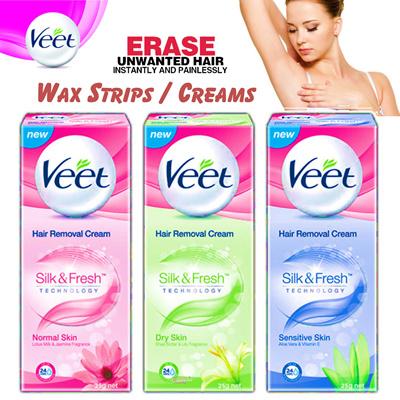 veet❤️️Save 60%❤️️ VEET Hair Removal Creams 200ml and Wax Strips  Suitable  legs underarms n bikini area