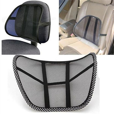 Vent Massage Cushion Mesh Back Lumber Support Office Chair Desk Car Seat Pad