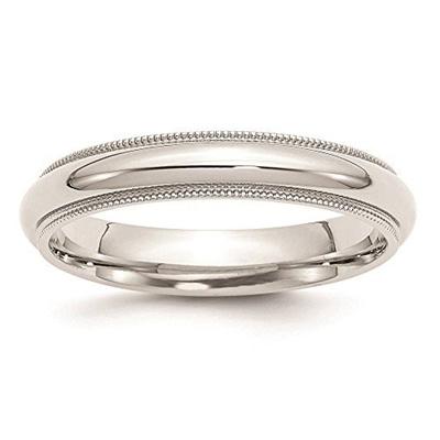 Venture Silver Wedding Bands 925 Sterling 4mm Comfort Fit Milgrain Ring Band