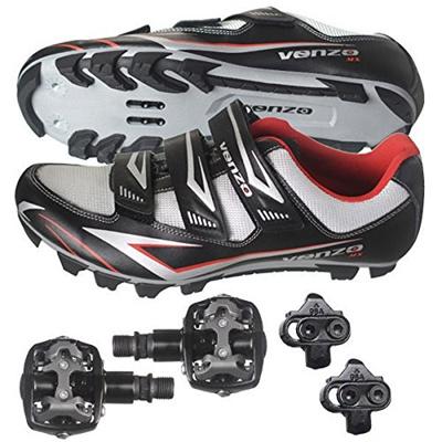 Venzo Mountain Bike Bicycle Cycling Shimano SPD Shoes Black